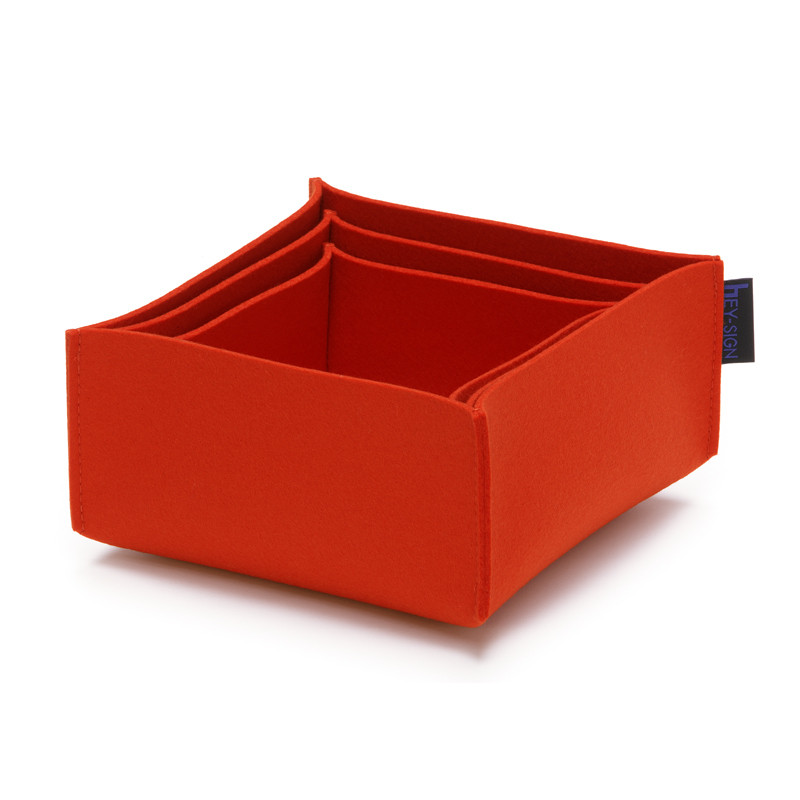 Filz Boxen Hey Sign Box 3er Set Klein 15cm X 15cm X 7cm In Allen Farben